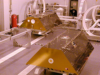 GRACE Satellites in Clean Room